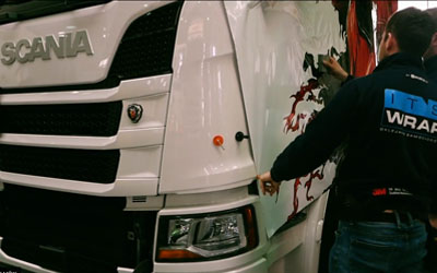 Scania – film z oklejania